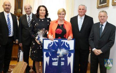 Predsjednica Kolinda Grabar Kitarović primila predstavnike sportskih udruga  Koprivničko-križevačke županje
